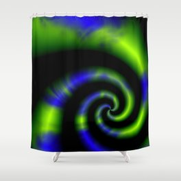 Fleeting Thought Abstract Shower Curtain