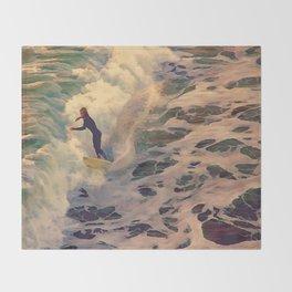 Riding the Sea Throw Blanket