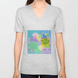 An abstract painting .   Good morning! Unisex V-Neck