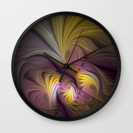 Unity, Abstract Colorful Fractal Art Wall Clock