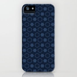 Hexagon Stars Texture  Drawn Starry Ornament iPhone Case