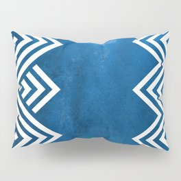 Indigo Chevron Pattern Pillow Sham