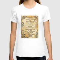bible verse T-shirts featuring Steampunk Bible Verse For God So Loved the World by Whimsy and Nonsense