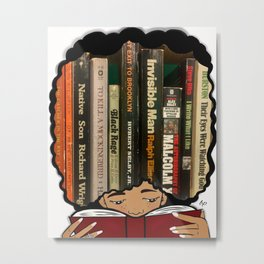 Lost in the pages Metal Print