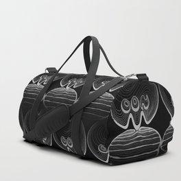 Moon Typography - Black and greys Duffle Bag