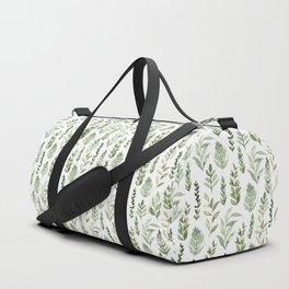 Watercolor leaves Duffle Bag