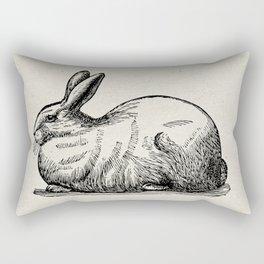 Vintage Bunny Rectangular Pillow