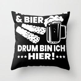 Frikandel beer Holland Amsterdam Throw Pillow