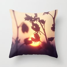 Garden Sunset Throw Pillow