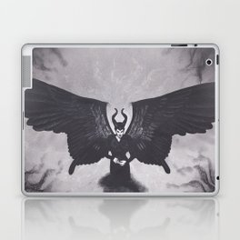 Realism Charcoal Drawing of Maleficent Laptop & iPad Skin
