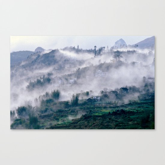 Foggy Mountain of Sa Pa in VIETNAM Canvas Print