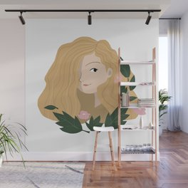 Leaf Girl Wall Mural