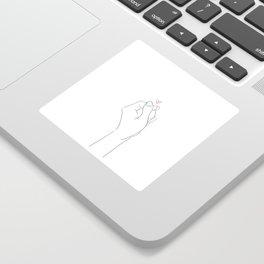 Finger Heart Sticker
