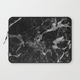 Black and Gray Marble Pattern Laptop Sleeve
