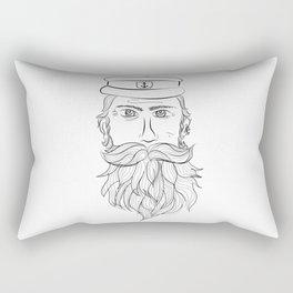 Captain - kapitein - pirate - fine line Rectangular Pillow