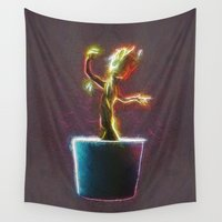 groot Wall Tapestries featuring Baby Groot by DisPrints