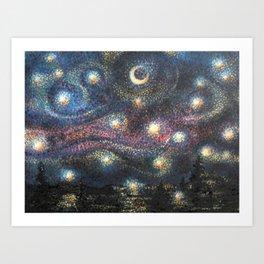 Starry Night 2 of 3 Art Print