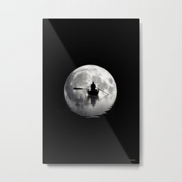 Boat ride under the moonlight  Metal Print
