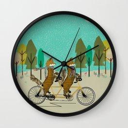 foxy days lets tandem Wall Clock