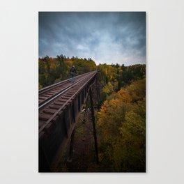 Bridge over Trestle Falls Canvas Print