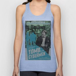 """Doctor Who """"Tomb of the Cybermen"""" Retro Movie Poster Unisex Tank Top"""