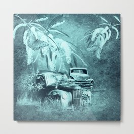 cars and butterflies in moonlight Metal Print
