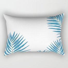 Fern Blue Rectangular Pillow