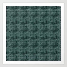 cadence triangles - dark green Art Print