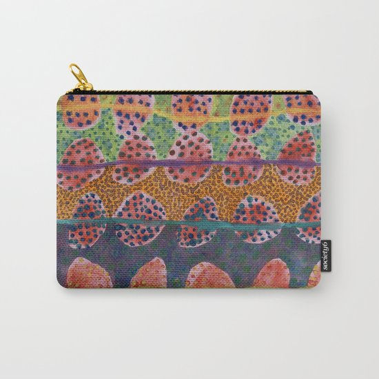 Red Round And Dotted Forms  Carry-All Pouch