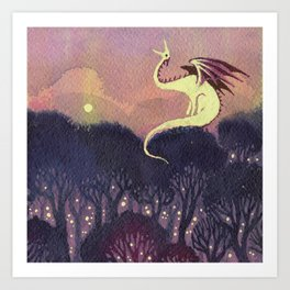 Yellow Dragon Art Print