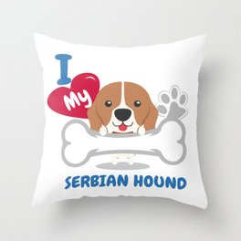 SERBIAN HOUND Cute Dog Gift Idea Funny Dogs Throw Pillow