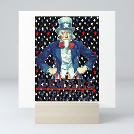 Beware The Wrath Of  A Patient Man Patriotic Star Mini Art Print