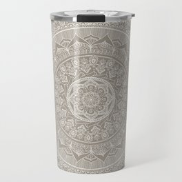 Mandala - Taupe Travel Mug