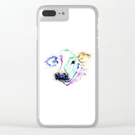 Colourful Cow Clear iPhone Case