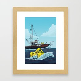 Jaws: Orca Illustration Framed Art Print