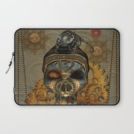 Steampunk, awesome steampunk skull with steampunk rat Laptop Sleeve