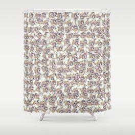 Giant money background 50 pound notes / 3D render of thousands of 50 pound notes Shower Curtain