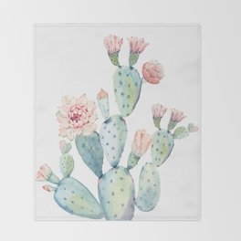 Cactus 2  White #society6 #buyart Throw Blanket