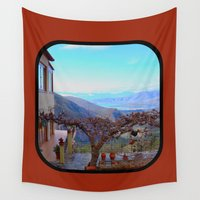 greece Wall Tapestries featuring Delphi Valley, Greece  by Alaskan Momma Bear