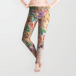 Because Pugs Watercolor Leggings