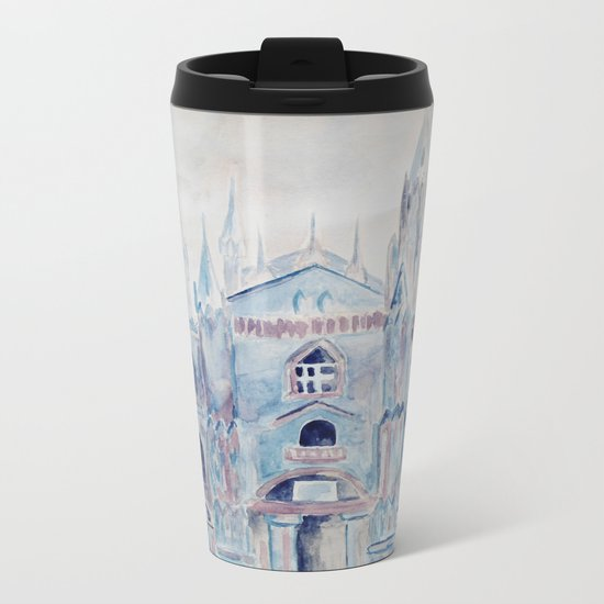 the castle in the clouds Metal Travel Mug