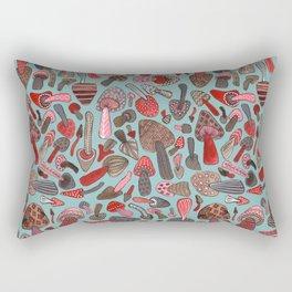 Mushroom Pattern turquoise Rectangular Pillow