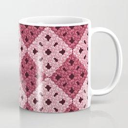 crochet with pink rhombs pattern Coffee Mug