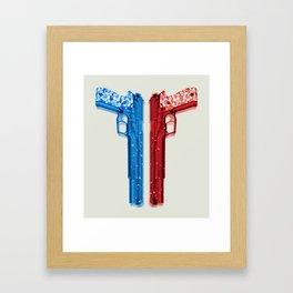 """Long Weekend """"Happy Songkran"""" Pistol Framed Art Print"""