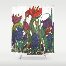 I wish I could have seen you bloom Shower Curtain