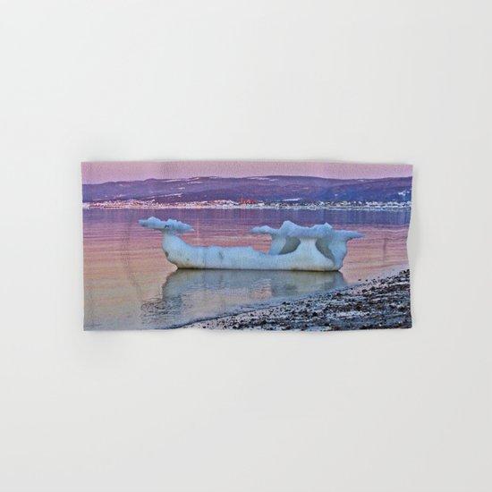 Viking Ice Ship Portrait Hand & Bath Towel