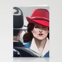 agent carter Stationery Cards featuring Agent Carter by IVIDraws