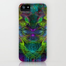 Rocket Man (abstract, psychedelic) iPhone Case