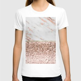 Warm chromatic - rose gold marble T-shirt