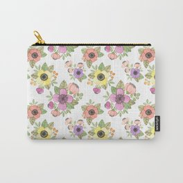 Yellow Bunch Watercolor Carry-All Pouch